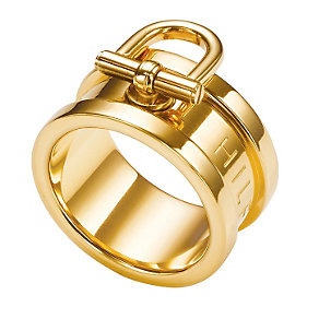 Tommy Hilfiger Ladies' Gold Plated Ring - Size Q 1/2 - Product number 1427784