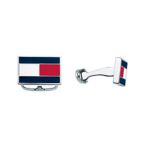 Tommy Hilfiger Stainless Steel Red, White & Blue Cufflinks - Product number 1427946