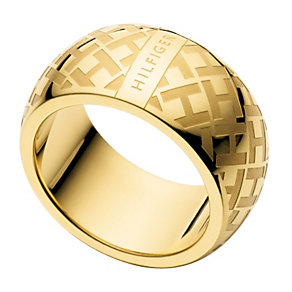 Tommy Hilfiger Ladies' Gold Plated Ring - Size N 1/2 - Product number 1428004