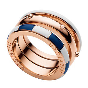 Tommy Hilfiger Ladies' Rose Gold Plated Ring - Size Q 1/2 - Product number 1428047