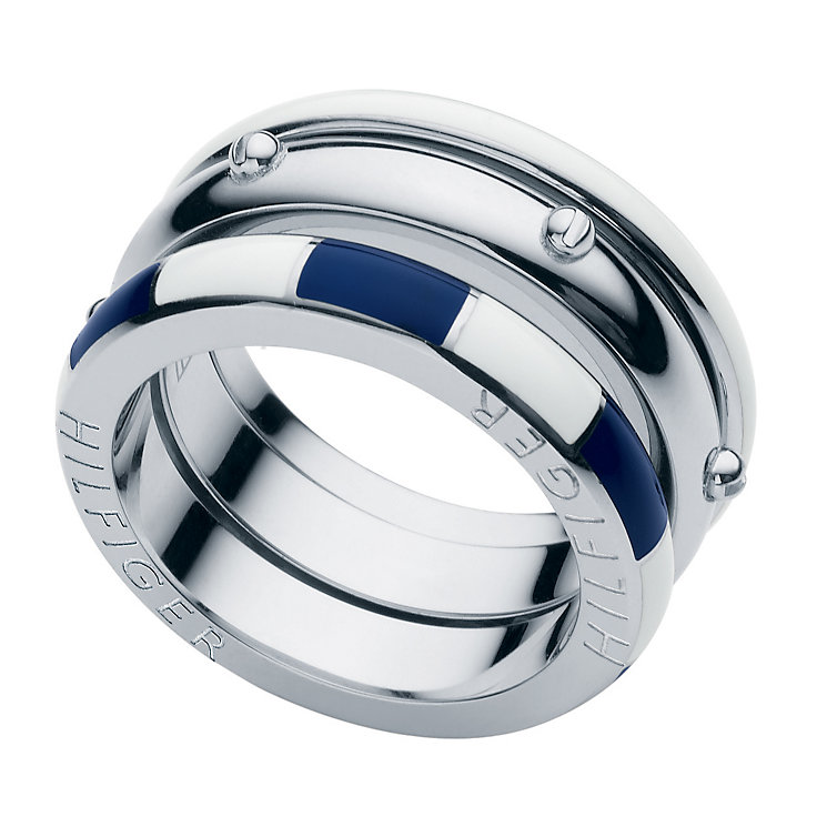 tommy hilfiger ladies 39 stainless steel ring size c h