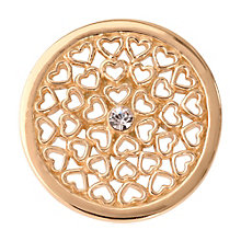 Nikki Lissoni Small Gold-Plated Hearts All Over Disc - Product number 1428179