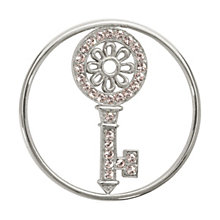 Nikki Lissoni Medium Silver-Plated Key To My Heart Disc - Product number 1428284
