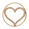 Nikki Lissoni Medium Gold-Plated Sparkling Heart Disc - Product number 1428292