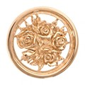 Nikki Lissoni Small Gold-Plated Bouquet With Roses Disc - Product number 1428543