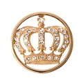 Nikki Lissoni Small Gold-Plated Royal Crown Disc - Product number 1428551