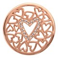 Nikki Lissoni Medium Rose Gold-Plated Hearts Disc - Product number 1428578