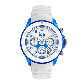 Ice-Watch Men's Blue & White Silicone Strap Watch - Product number 1429264