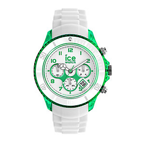 Ice-Watch Men's Green & White Silicone Strap Watch - Product number 1429272