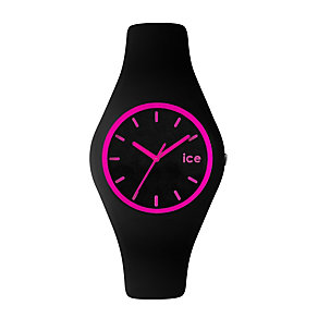 Ice-Watch Ladies' Pink & Black Silicone Strap Watch - Product number 1429302