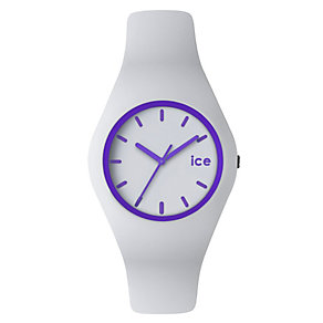Ice-Watch Ladies' Purple & White Silicone Strap Watch - Product number 1429329