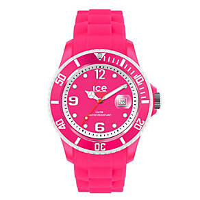 Ice-Watch Ladies' Pink Silicone Strap Watch - Product number 1429345