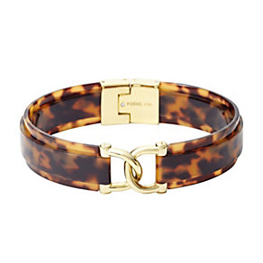 Fossil Iconic Gold-Plated Tortoiseshell Effect Bangle - Product number 1429787
