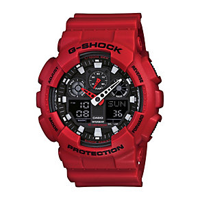 Casio G-Shock Men's Black Dial Red Resin Bracelet Watch - Product number 1430041