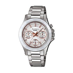 Casio Sheen Ladies' Stainless Steel Bracelet Watch - Product number 1430203