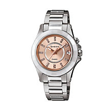 Casio Sheen Ladies' Stainless Steel Bracelet Watch - Product number 1430211