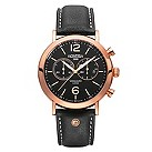 Roamer Vanguard men's rose gold-plated black strap watch - Product number 1430300