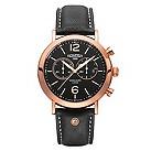 Roamer Vanguard men's rose gold-plated black strap watch - Product number 1430300