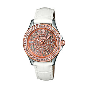 Casio Sheen Ladies' White Leather Strap Watch - Product number 1430327