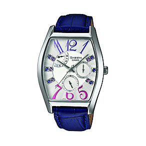 Casio Sheen Ladies' Purple Leather Strap Watch - Product number 1430378