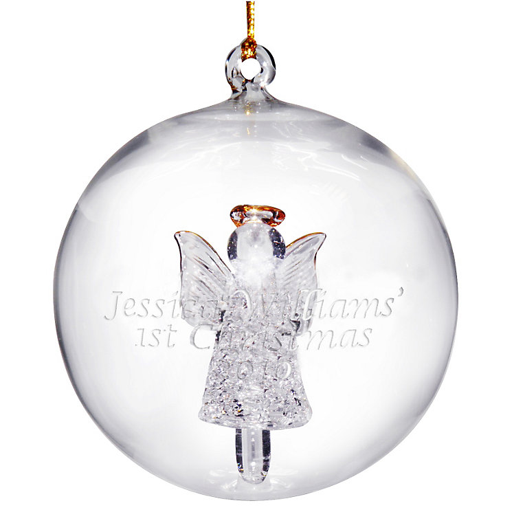 Engraved Glass Christmas Angel Bauble - Product number 1430734