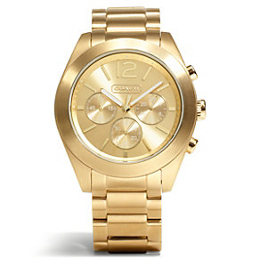 Coach Tristen ladies' gold-plated bracelet watch - Product number 1430742