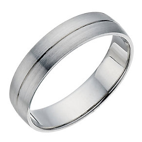 Palladium 500 5mm D shape ring - Product number 1431838