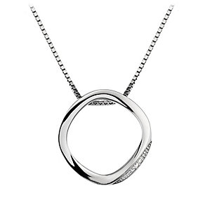 Hot Diamonds Simply Sparkle silver open circle pendant - Product number 1433636