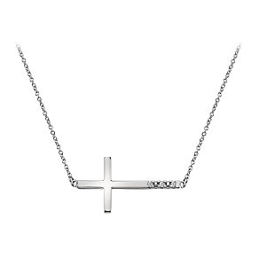 Hot Diamonds silver sideways cross necklace - Product number 1433652