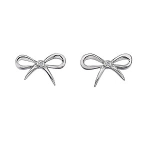 Hot Diamonds Flourish sterling silver bow stud earrings - Product number 1433709