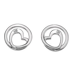 Hot Diamonds Forever sterling silver heart stud earrings - Product number 1433741