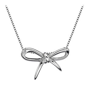 Hot Diamonds Flourish sterling silver bow pendant - Product number 1433768