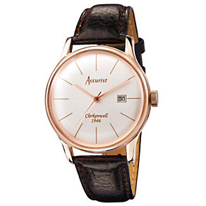 Accurist Clerkenwell Men's Brown Leather Strap Watch - Product number 1433806