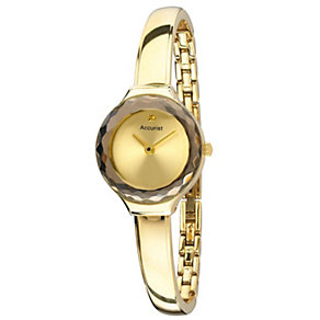 Accurist Ladies' Gold Tone Semi Bangle Watch - Product number 1433822