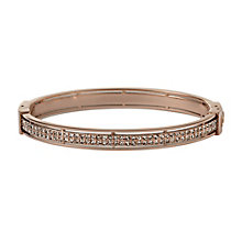 Fossil Vintage Glitz Rose Gold-Plated Cubic Zirconia Bangle - Product number 1434241