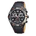 Accurist Men's Black Leather Strap Watch - Product number 1434314
