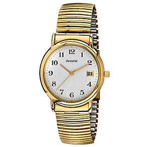Accurist Men's Gold Tone Expander Bracelet Watch - Product number 1434322
