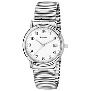 Accurist Men's Stainless Steel Expander Bracelet Watch - Product number 1434330