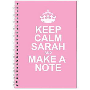 Personalised Pink Keep Calm Notebook - Product number 1434454