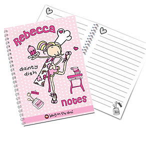 Personalised Bang on the Door Dainty Dish Notebook - Product number 1434470