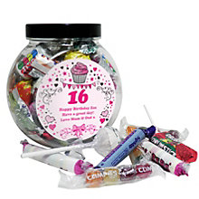 Personalised Big Age Cupcake Sweet Jar - Product number 1434489