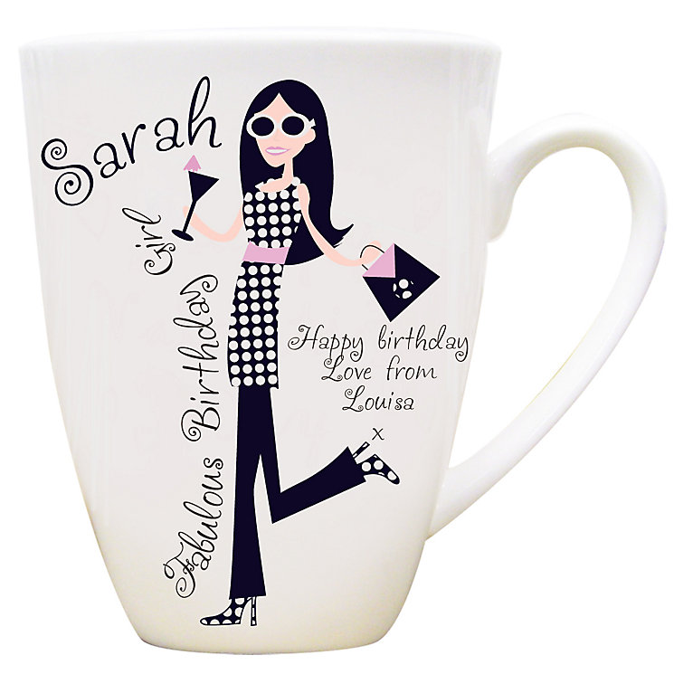 Personalised Fabulous Birthday Girl Mug - Product number 1434616