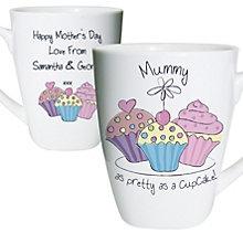 Personalised Cupcake Design Latte Mug - Product number 1434632