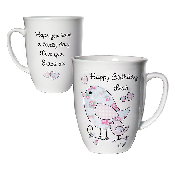 Personalised Floral Birds Mug - Product number 1434659