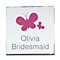 Personalised Butterflies Pink Small Crystal Token - Product number 1434810