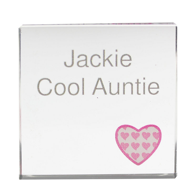 Personalised Heart Pink Small Crystal Token - Product number 1434829