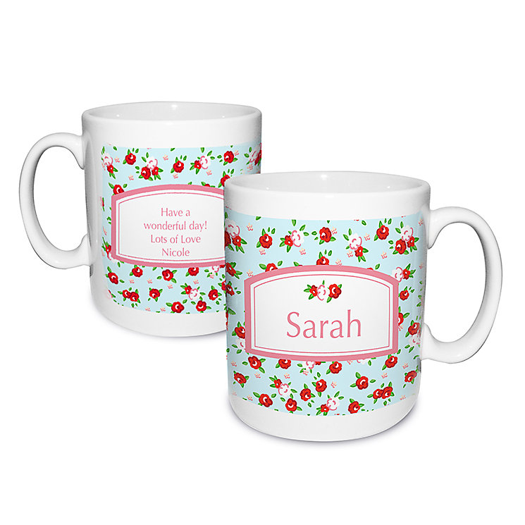Personalised Vintage Floral Mug - Product number 1434896