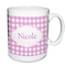 Personalised Pink Gingham Mug - Product number 1434918