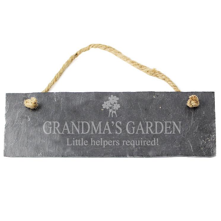Engraved Flower Motif Slate Plaque - Product number 1435043