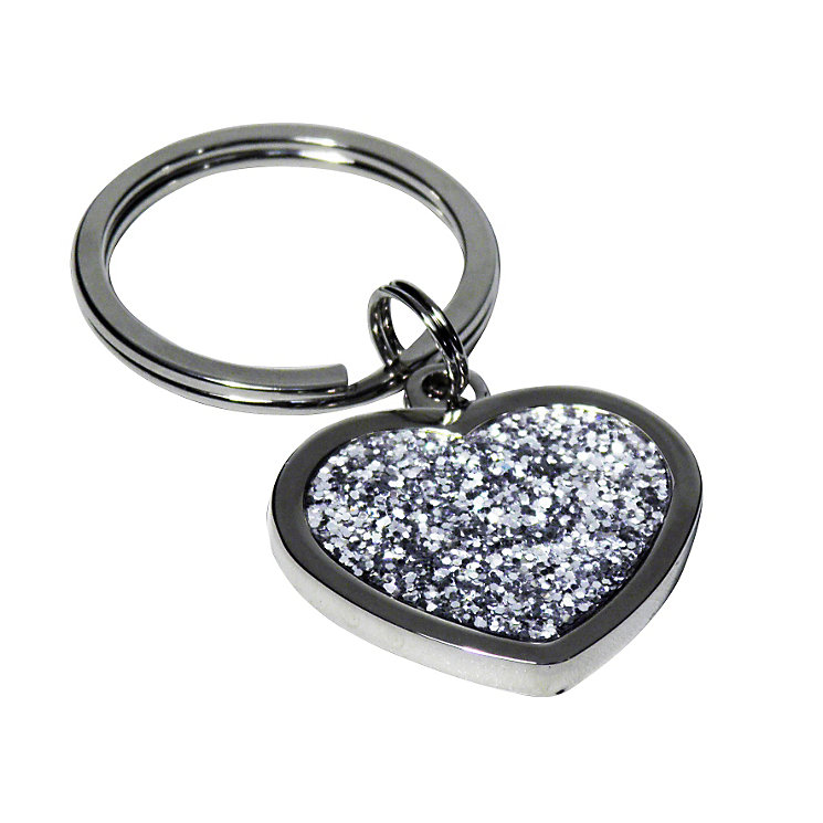 Engraved Diamante Heart Key Ring - Product number 1435116